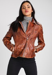 Freaky Nation - BLIND TRUST - Leather jacket - cognac - 0
