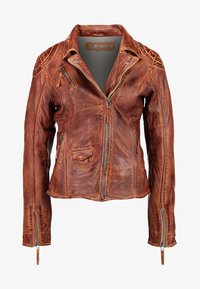 Freaky Nation - BLIND TRUST - Leather jacket - cognac - 5