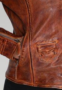 Freaky Nation - BLIND TRUST - Leather jacket - cognac - 4