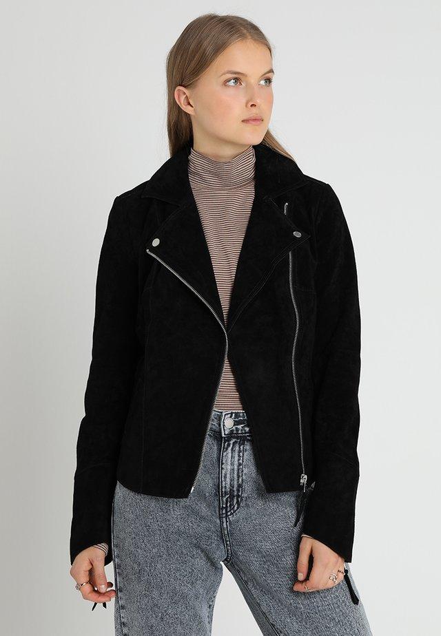 PRINCESS RUBY - Leren jas - black