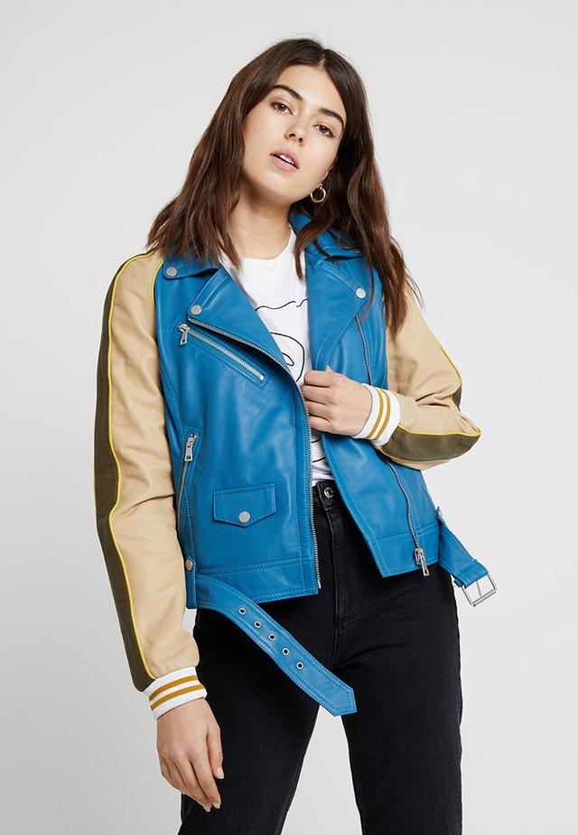 BASKER JACKET - Leren jas - multicolor