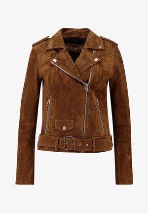 CAT NOIR - Leather jacket - camel