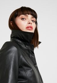 Freaky Nation - LONGLINE JACKET - Leather jacket - black - 4