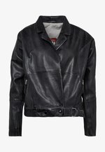 LORIANA - Leather jacket - black