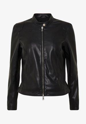 VEGAN NEW CAROL - Faux leather jacket - black
