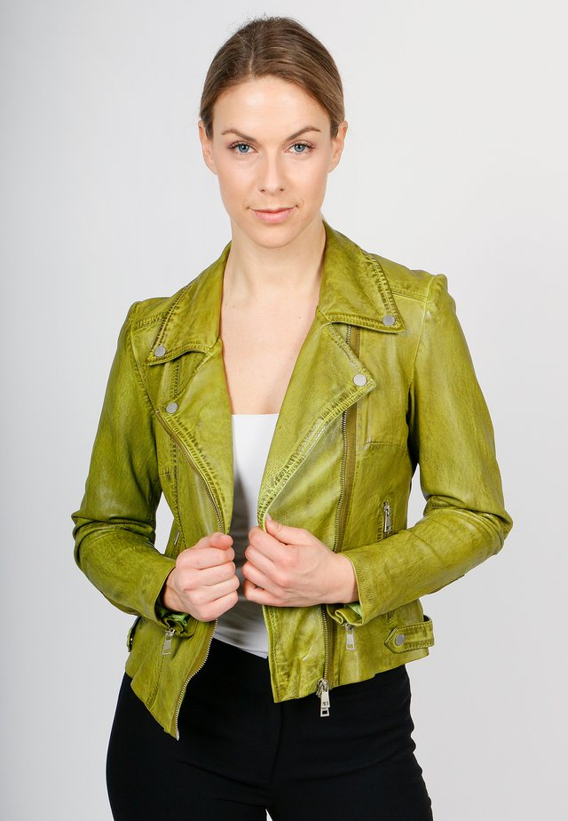 UNDRESS ME!-FN SVF - Leather jacket - moss green