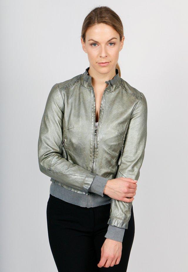 GLEAM GIRL-FN - Leather jacket - metallic green