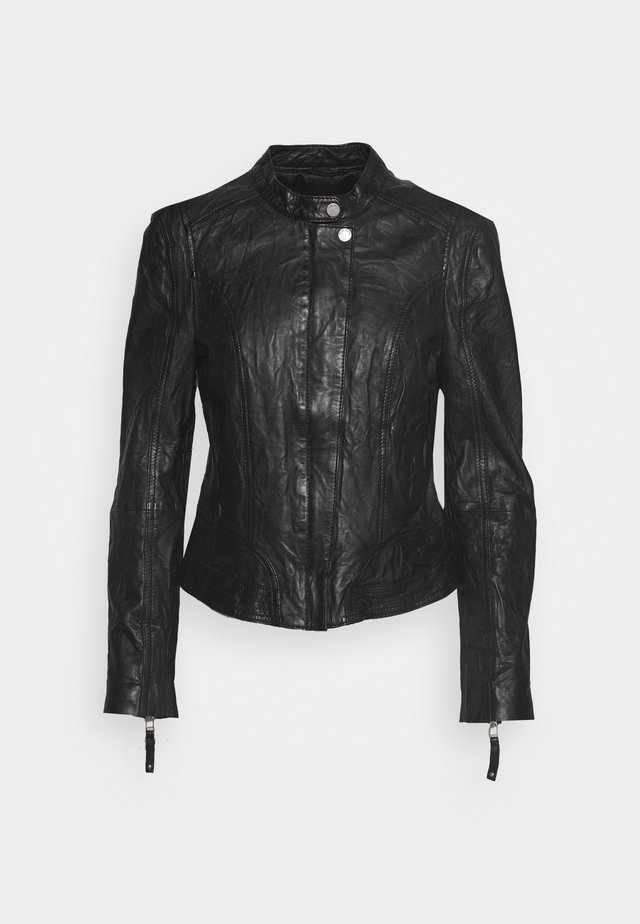 JAMYLA - Kožená bunda - black