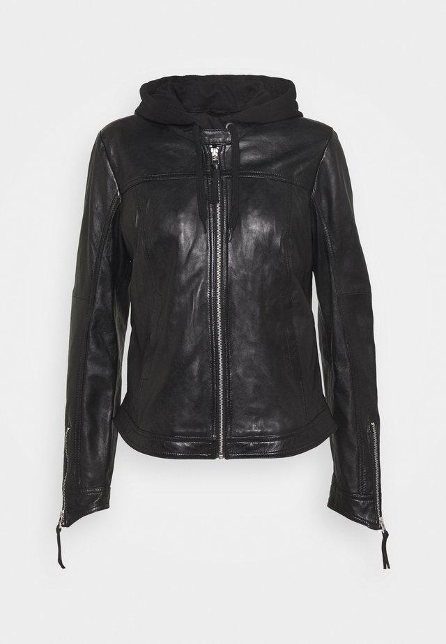 TIPPI - Kožená bunda - black