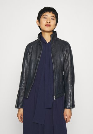 KLARA - Leather jacket - navy