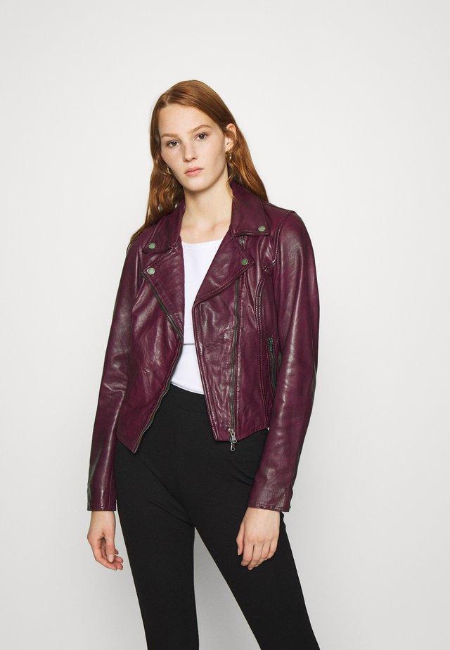 BALI - Leather jacket - blackberry