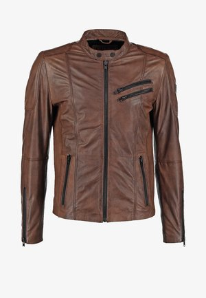 DAVIDSON - Leather jacket - wood