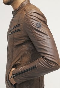 Freaky Nation - DAVIDSON - Veste en cuir - wood - 6