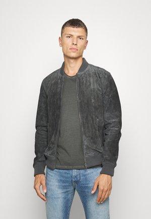 TED - Kožená bunda - dark anthrazit