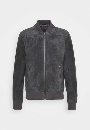 TED - Leather jacket - dark anthrazit