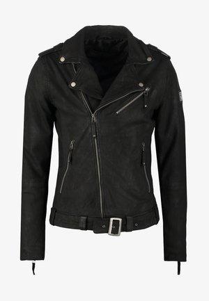 COLTRANE  - Kožená bunda - black