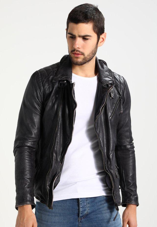 SWAGGER - Kožená bunda - black