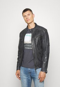 Freaky Nation - BEST BUDDY - Leather jacket - black - 0