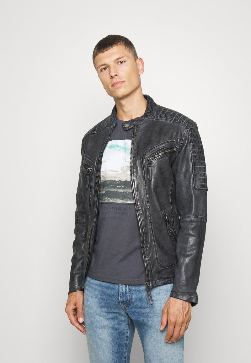 Freaky Nation - BEST BUDDY - Leather jacket - black