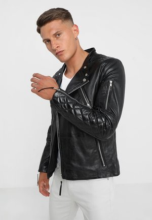 CRUISER - Leather jacket - black