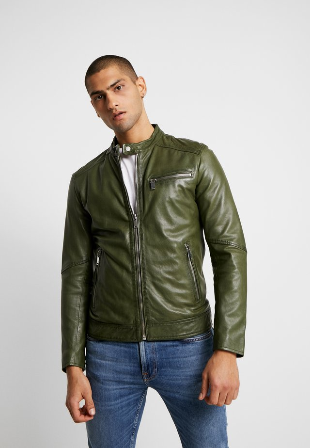 LUCKY JIM - Leather jacket - cypriss