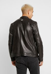 Freaky Nation - LUCKY JIM - Leather jacket - darkbrown - 2