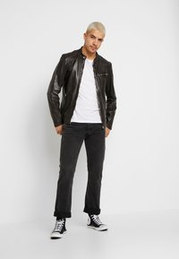 Freaky Nation - LUCKY JIM - Leather jacket - darkbrown - 1