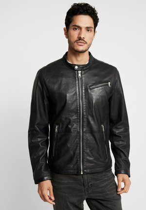 DAVIS - Leather jacket - black