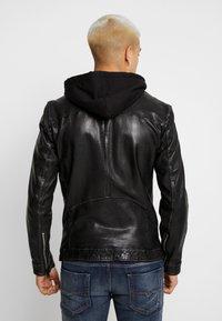 Freaky Nation - NICK - Leather jacket - black - 2