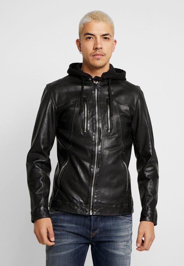 NICK - Veste en cuir - black