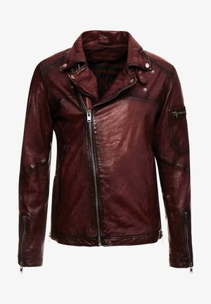 Leather jacket - brick red