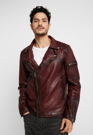 Veste en cuir - brick red