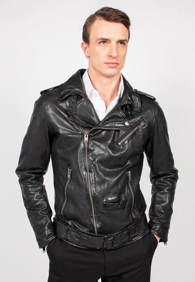 HOUSTON CITY - Leather jacket - black