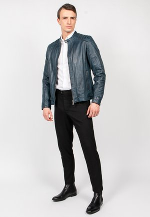 BLUERACY - Leather jacket - true navy