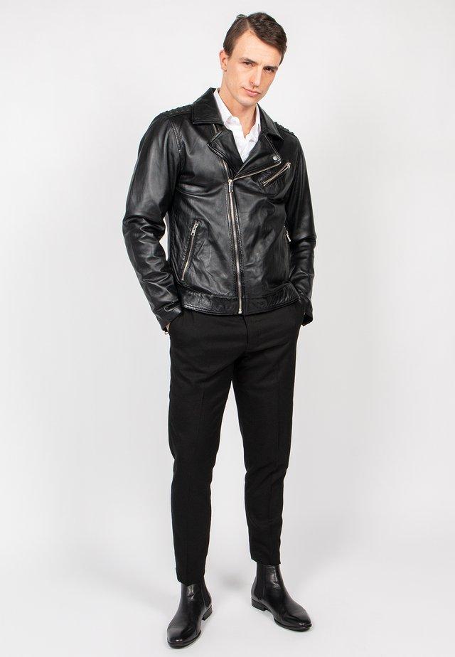BLACK SELECT - Leather jacket - black