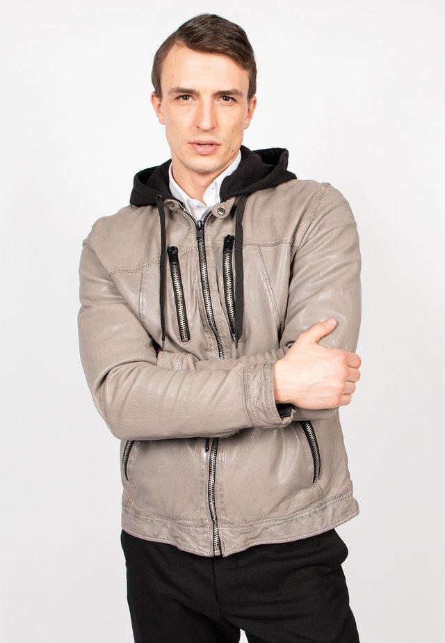 NICK-FN - Leather jacket - zinc