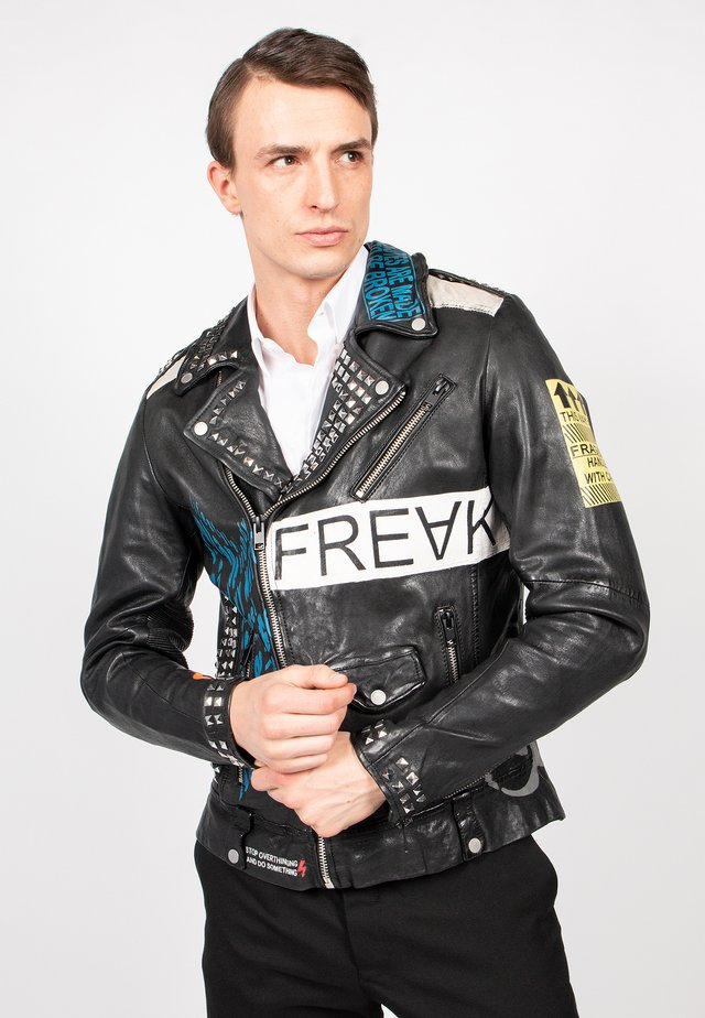 MR.ACE - Leather jacket - black