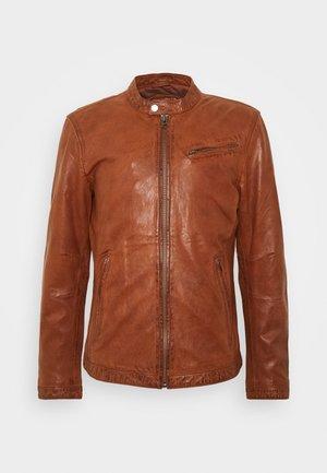 EASY JIM - Leather jacket - cognac