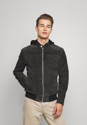 GRANITE BOY - Kožená bunda - dark anthra