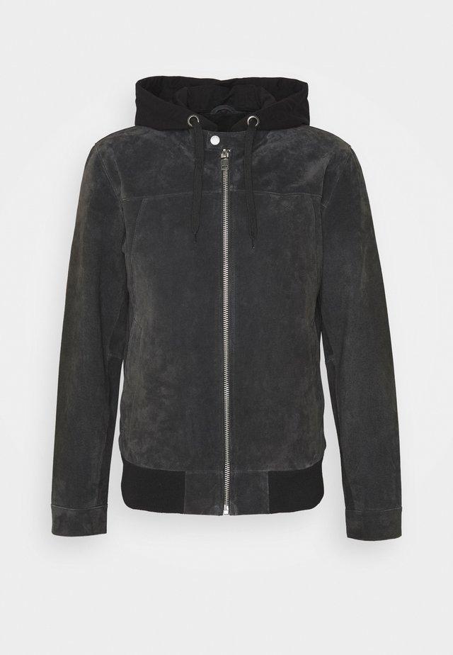 GRANITE BOY - Leather jacket - dark anthra