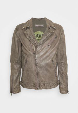 ELECTRIC MAN  - Leather jacket - silver grey