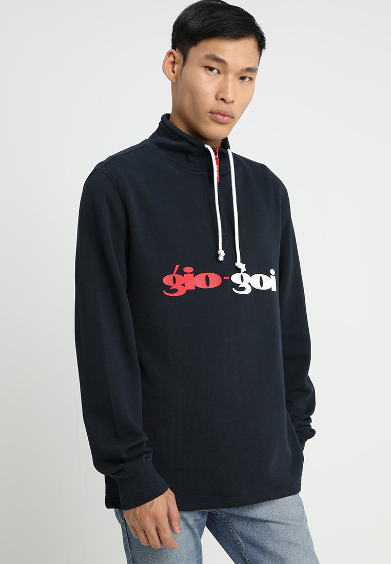 Gio Goi - FUNNEL NECK WITH DRAWCORDS  - Sweatshirt - navy salute