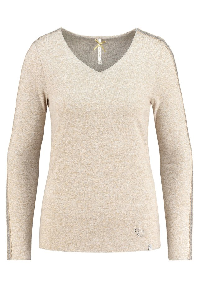 Long sleeved top - sand (21)