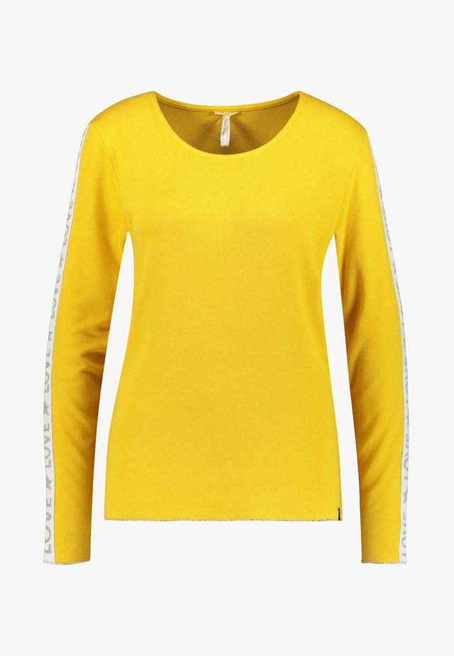 WLS CLAUDIA ROUND - Long sleeved top - yellow