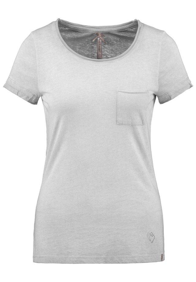 """KEY LARGO DAMEN T-SHIRT """"HONEY"""" - Print T-shirt - silber (12)"""