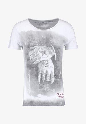 ALIVE - T-shirt z nadrukiem - white