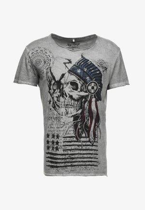 INDIAN SKULL - T-shirt imprimé - silver