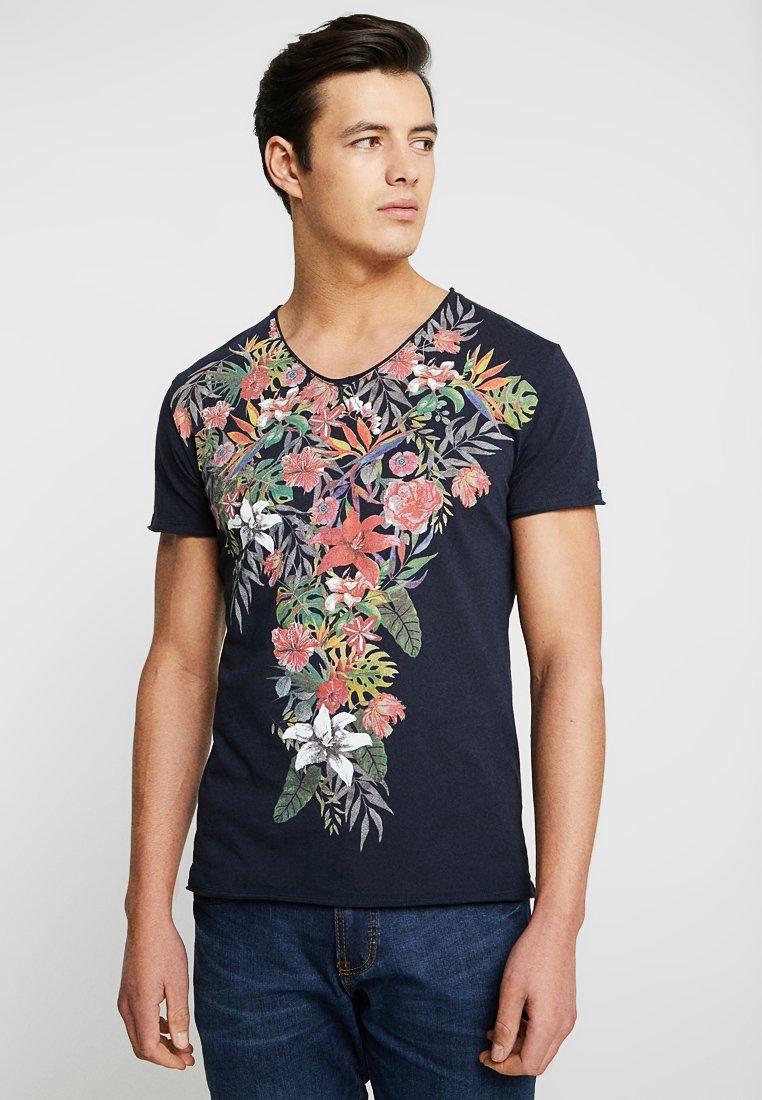 Key Largo - SIESTA V-NECK - T-Shirt print - navy