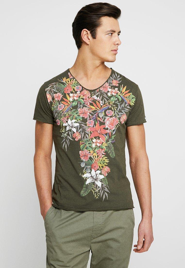 Key Largo - SIESTA V-NECK - T-Shirt print - khaki