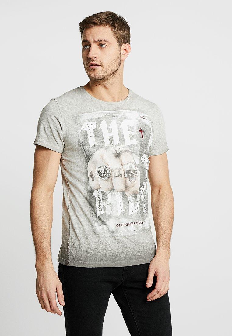 Key Largo - LAST RIDE ROUND - T-Shirt print - silver